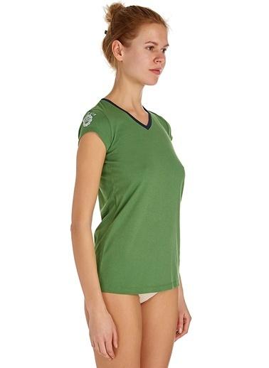 U.S. Polo Assn. V Yaka T-Shirt Yeşil